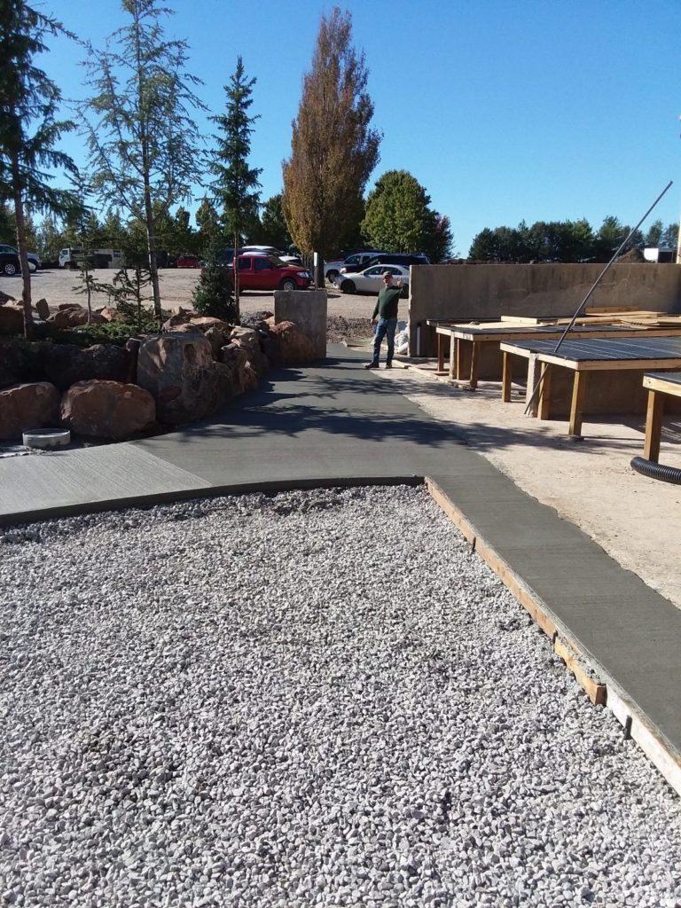 Commercial walkways around nursery