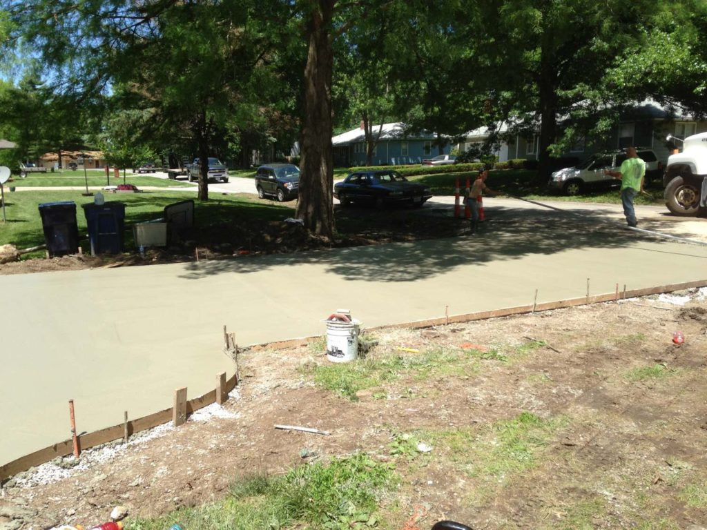 Rounded Concrete Slab