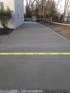 A finished driveway