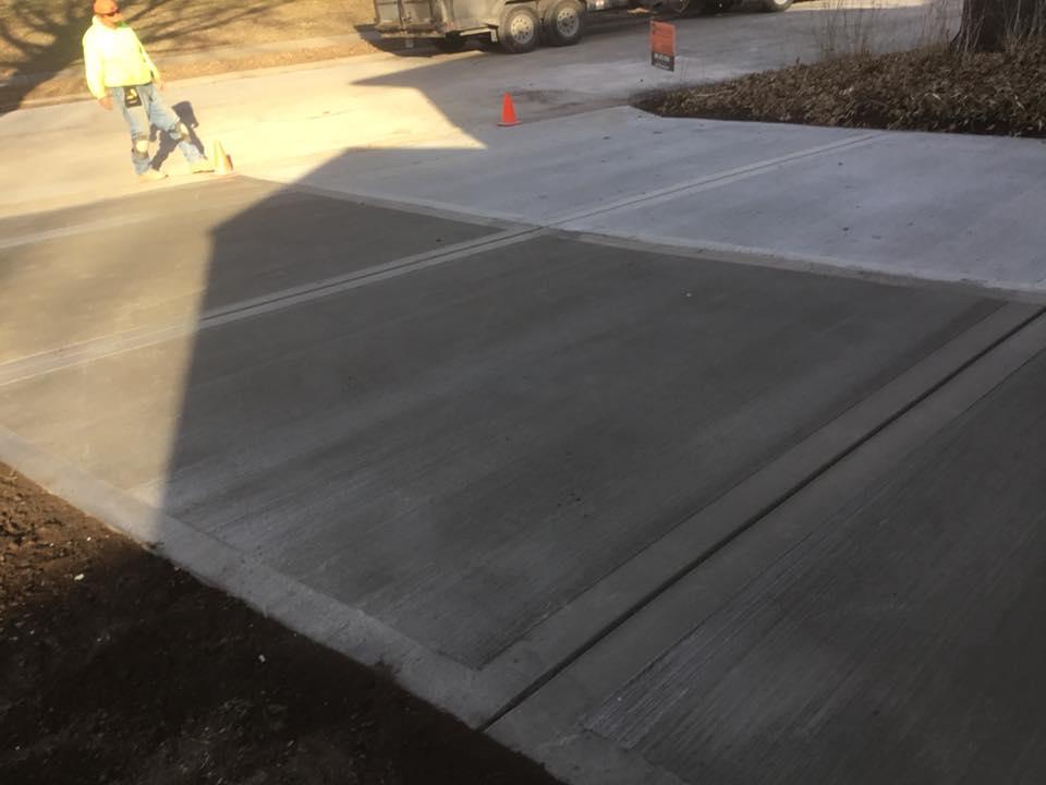Custom Concrete Driveway