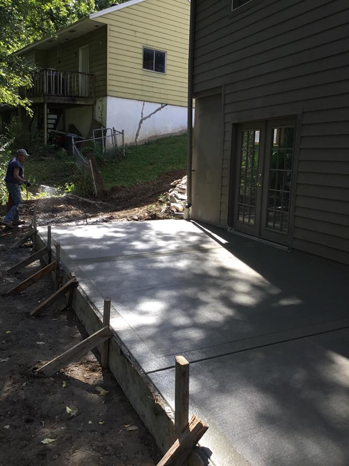 Concrete Patio Slab in Kansas City
