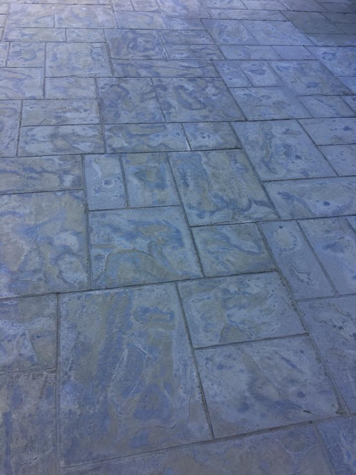 Custom concrete stamping
