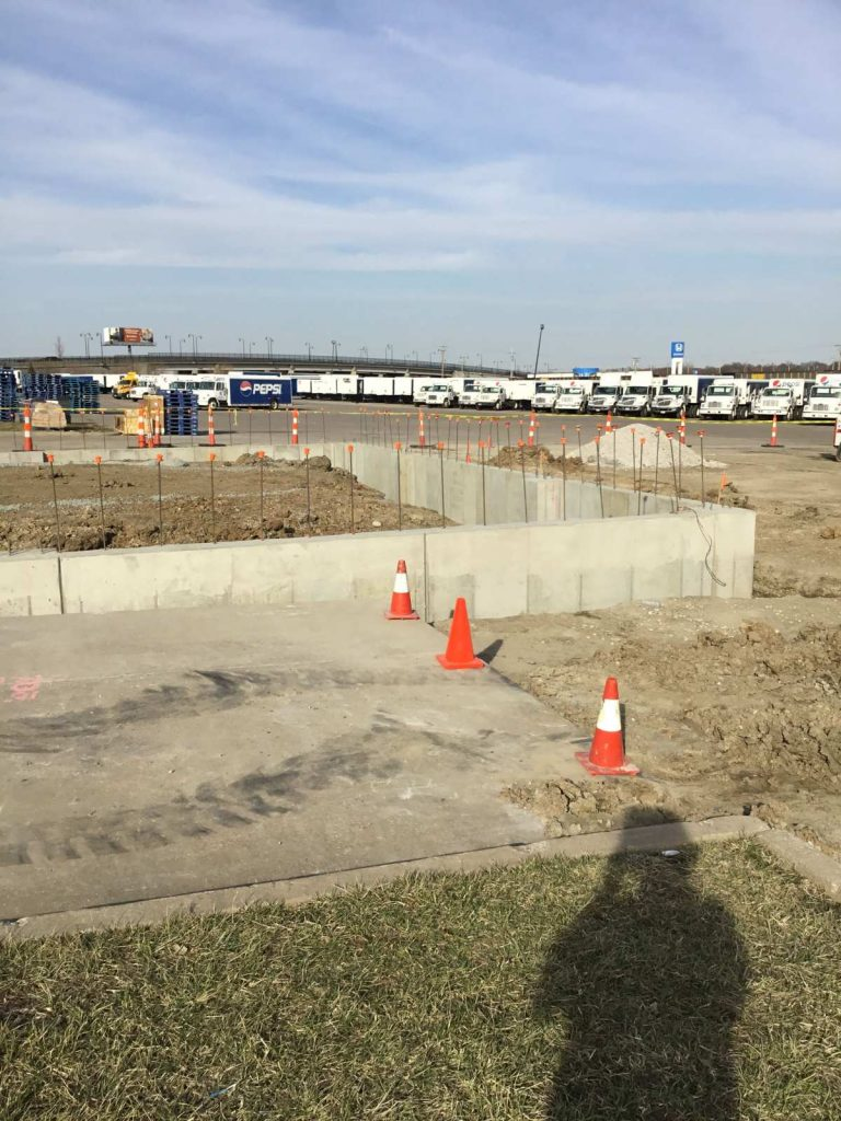 Completed foundation walls at Pepsi plant