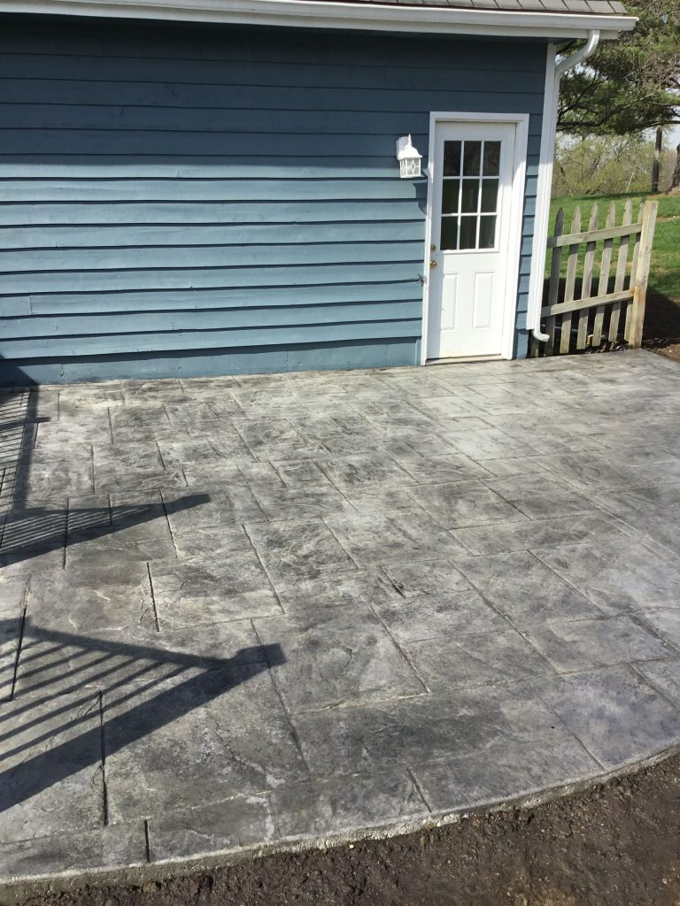 Close up of stamped patio