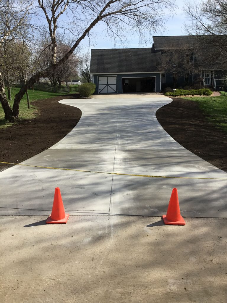 Custom driveway by Krete Construction